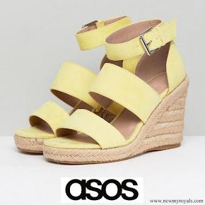 Princess Amalia wore Asos yellow Taffy Wide Fit Espadrille Wedges