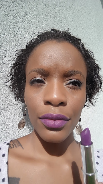 Maybelline Creamy Matte '681 Vibrant Violet' swatch www.modenmakeup.com
