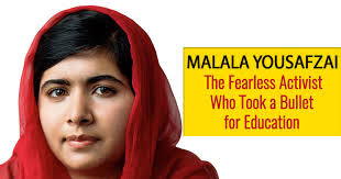 Biography of brave Malala Yousafzai fighting for the right to education of women