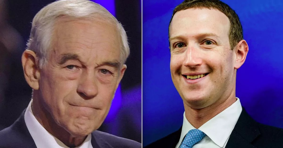 Former Congressman Ron Paul Is Suspended From Facebook Following A Breach Of Community Standards Just Days After Trump Ban