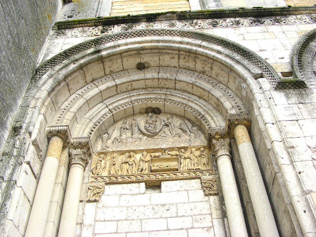 The Virgin Tympanum on the priory church, La Charite sur Loire, Nievre, France. Photo by Loire Valley Time Travel.