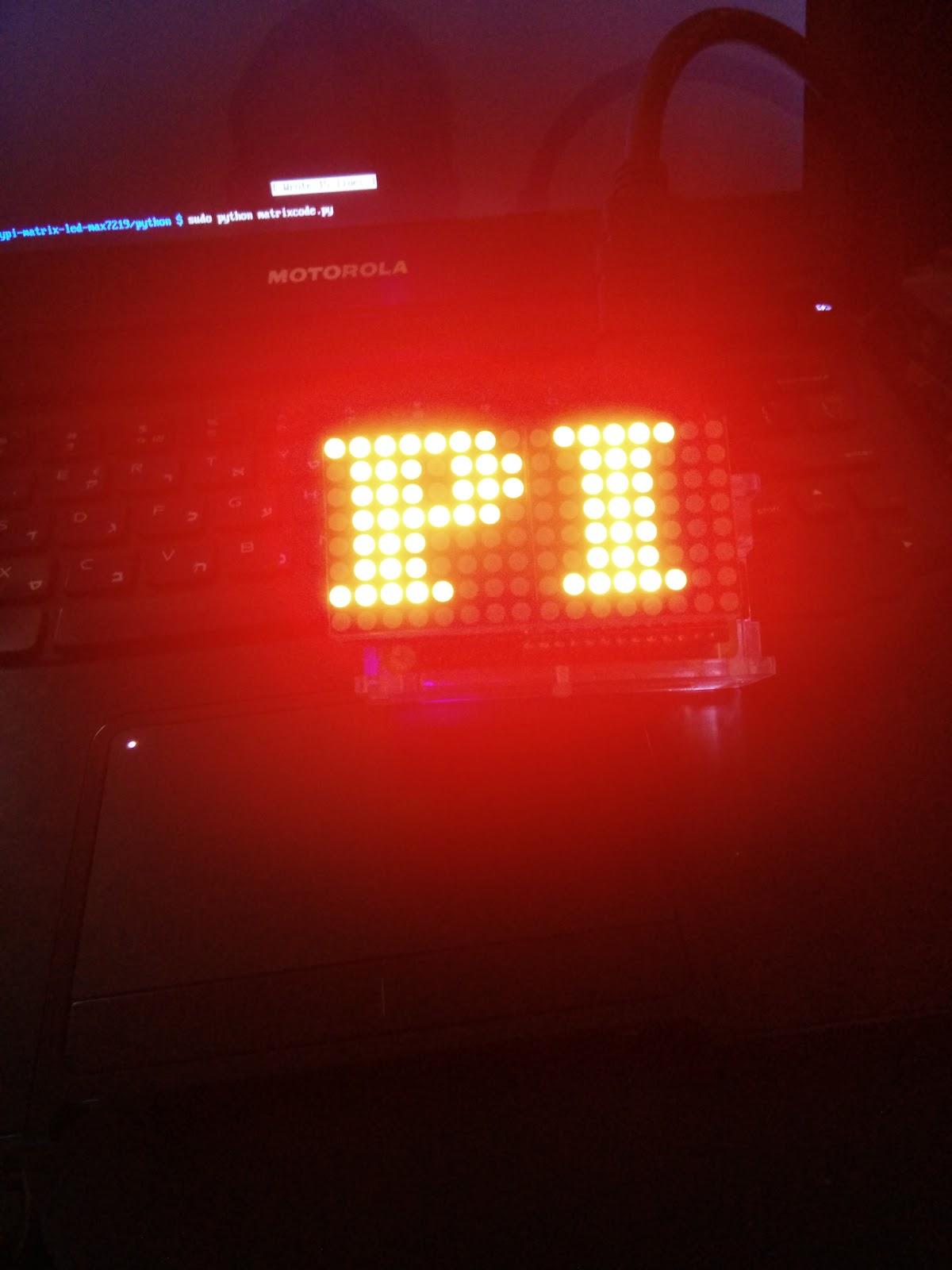 raspberry pi blog by MyPiFi: Keyes 16x8 led matrix add on board