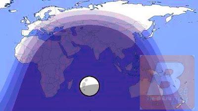 карта видимости лунного затмения с 5 на 6 июня 2020 г.