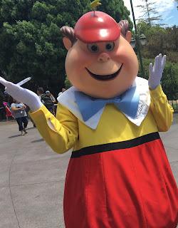 Tweedledum Character at Disneyland in Fantasyland