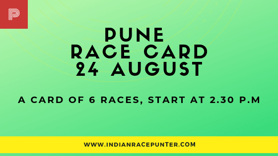 Pune Race Card 24 August