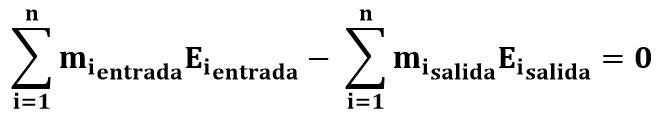 Ecuación de balance de energía en procesos de mezclado
