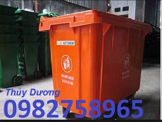 Xe gom rác 660l, xe gom rác nhựa Composite, xe gom rác công nghiệp giá rẻ