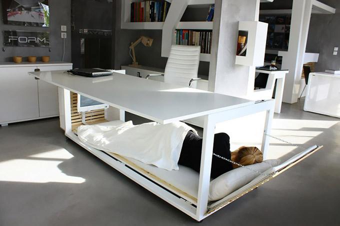 Escritorio que se convierte en cama