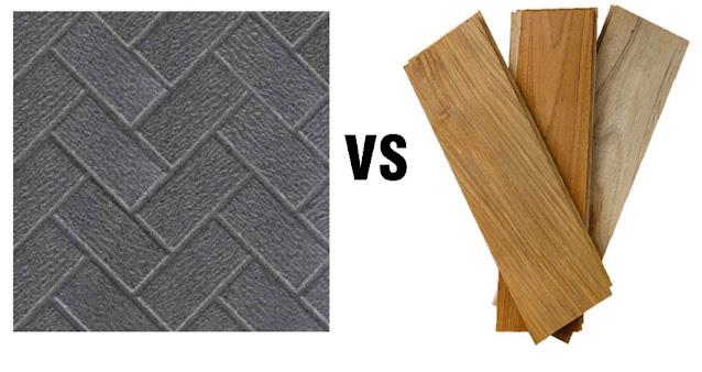 Perbandingan lantai kayu dengan lantai keramik