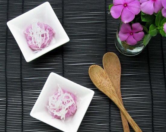 Cách nấu xôi lá cẩm bằng nồi cơm điện