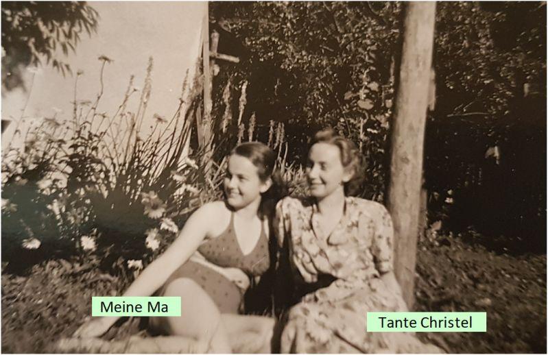 Meine Mutter mit meiner Lieblingstante Christel