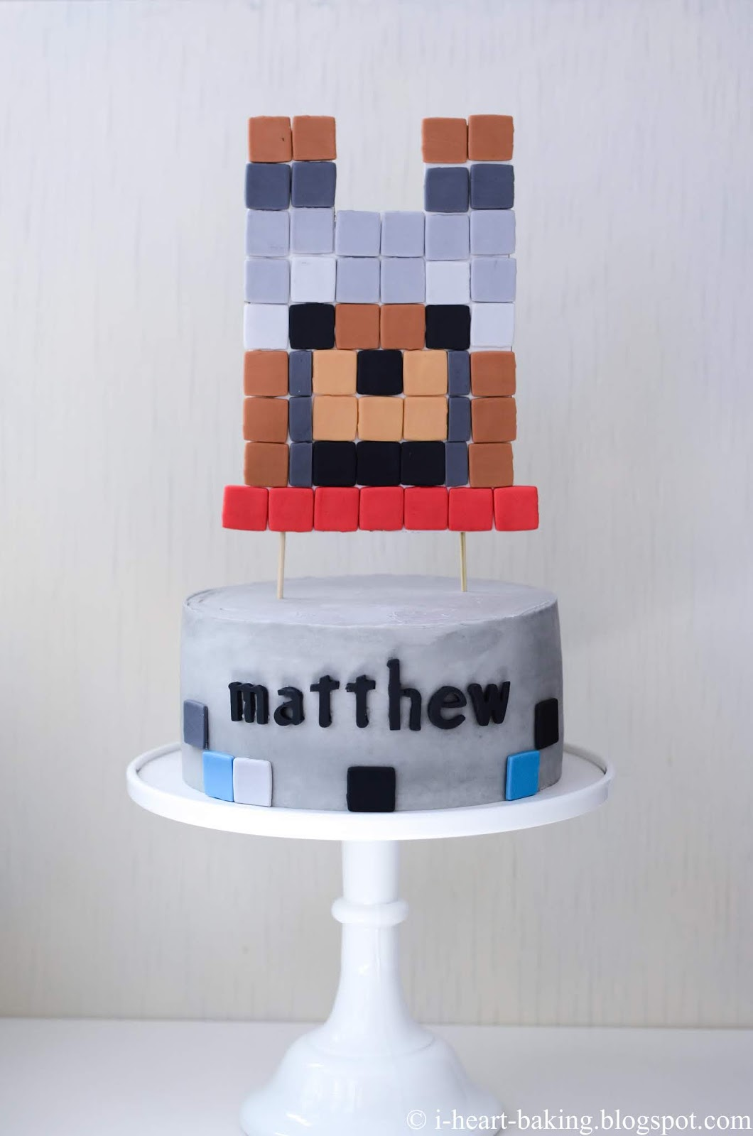 I Heart Baking Minecraft Wolf Birthday Cake With Handmade
