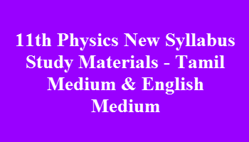 Tamilnadu 11th Physics Book Pdf
