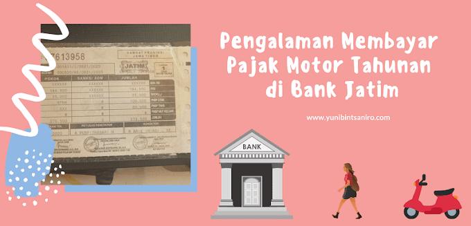 Pengalaman Membayar Pajak Motor Tahunan di Bank Jatim