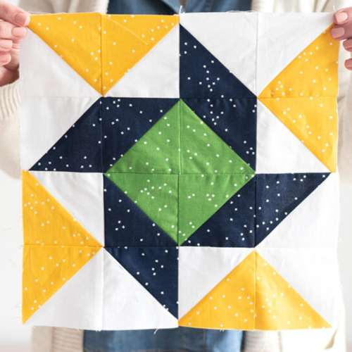 Sunshine & Stars Quilt Block - Free Pattern