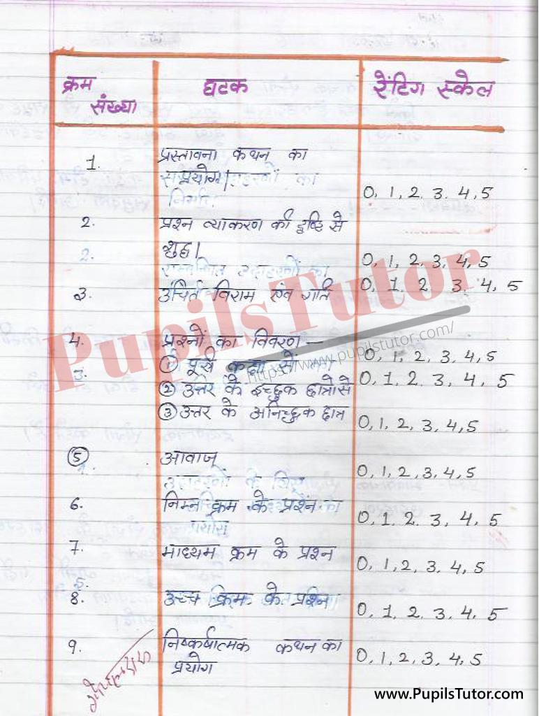 Hindi ki Suksham Shikshan Paath Yojana sangya par kaksha 6  k liye