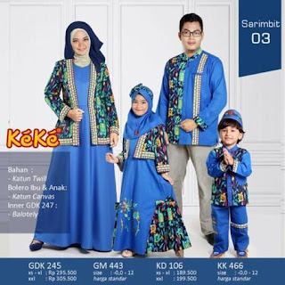 baju lebaran keluarga batik