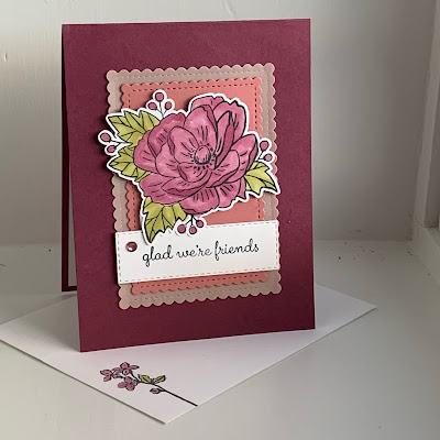 Floral Thank You card using Paper Pumpkin Lovely Day February 2020 Stamp Set