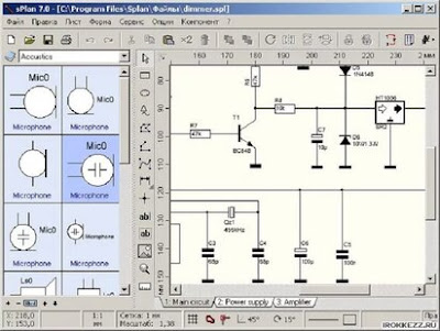 sPlan - a convenient graphical editor for electrical circuits
