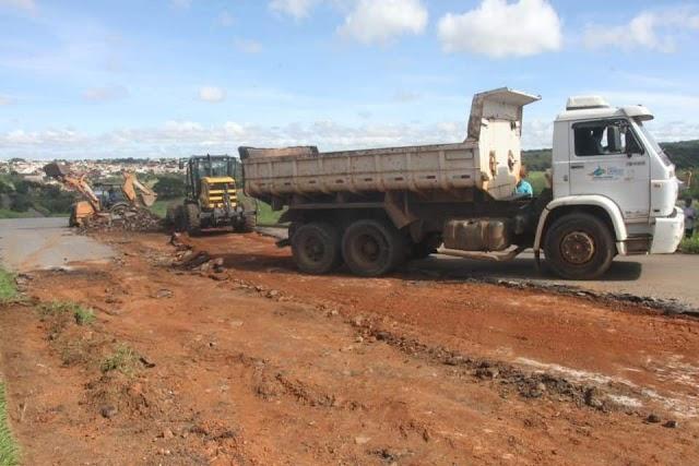 Senador Canedo: Recuperação do asfalto da GO-010 é iniciada