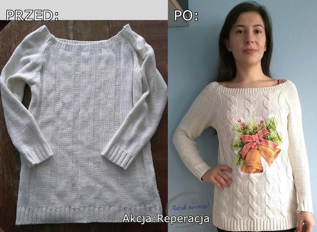Akcja:Reperacja u Adzika - jak przerobić nudny sweter