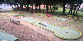 Mini Golf at Pula Arena in Croatia. Photo by Christopher Gottfried June 2019