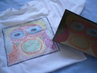 Camiseta com Giz de Cera para o Dia dos pais