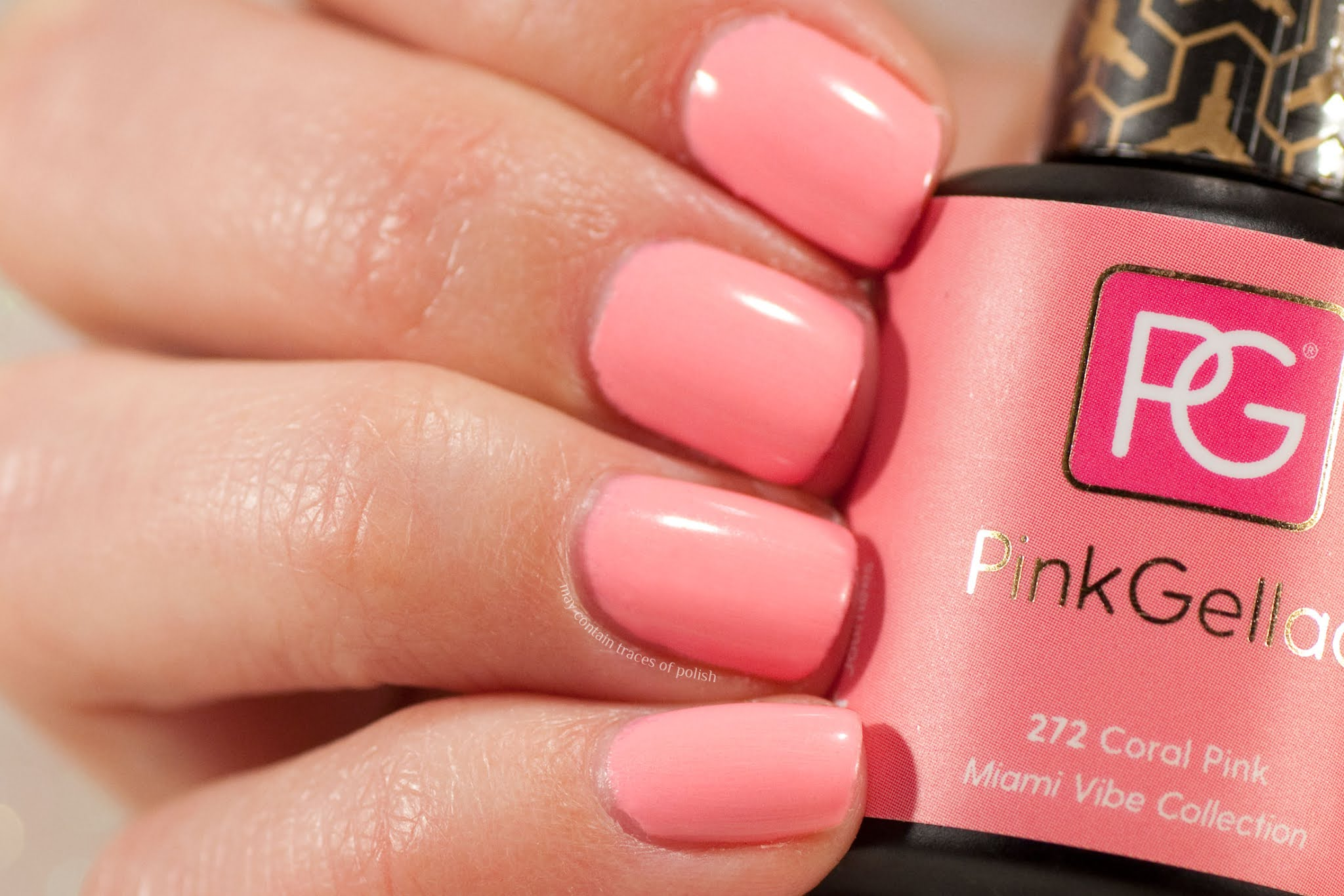 Pink Gellac Swatches - 272 Coral Pink