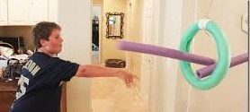 Making a Pool Noodle Javelin Throw Target