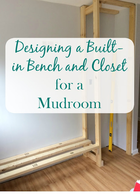 Design your own bench and built in closet for a Mudroom.