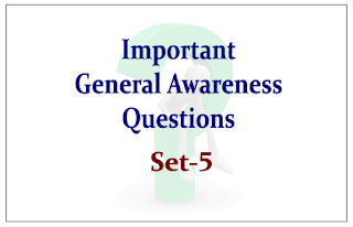 List of Expected General Awareness Questions for Upcoming RBI/SBI Exams 2015 Set-5