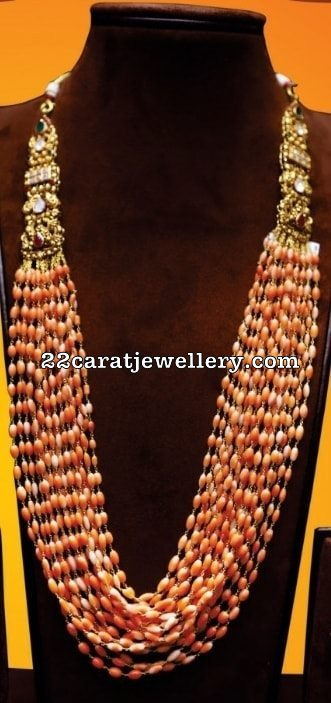Light Orange Coral Beads Chain