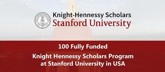 """100 منحة دراسية ممولة بالكامل لدراسة الماجستير والدكتوراة في جامعة ستانفورد مقدمة من برنامج """"Knights Hennesy Scholars"""""""
