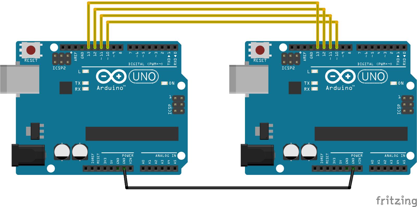 Arduino-er: Communication betweeen Arduinos using SPI