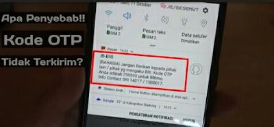 kode sms verifikasi brimo tidak terkirim