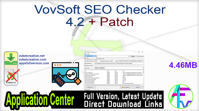 VovSoft SEO Checker 4.2 + Patch