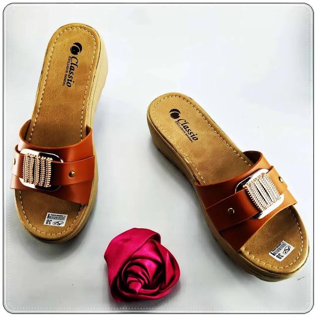 Pabrik Sandal Imitasi Kulit Tasikmalaya - Wedges CS CPC Wanita