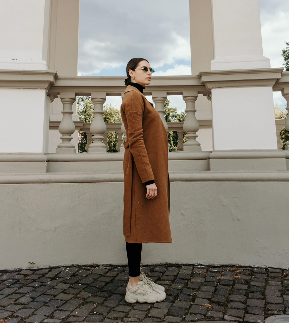 simple trench coat for fall