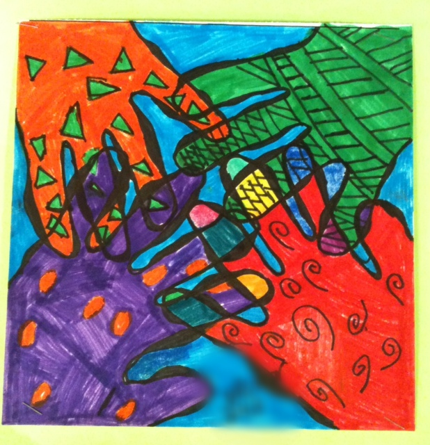 Art Moments 5th Grade Overlapping Hands