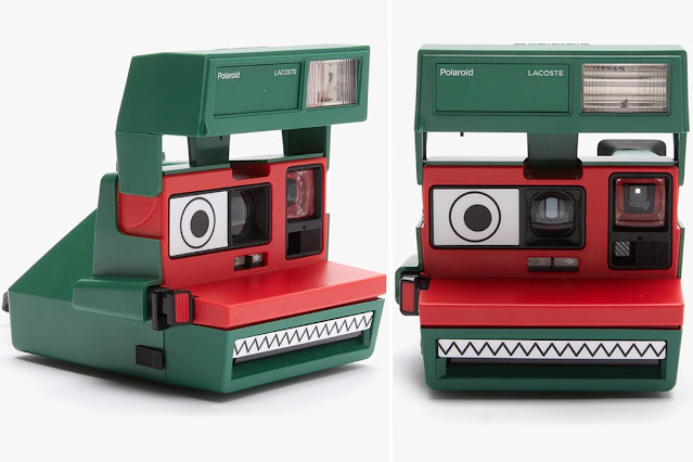 Lacoste-themed Polaroid 600 instant film camera