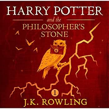 Capa do Audiolivro Harry Potter e Pedra Filosofal, edição em inglês.