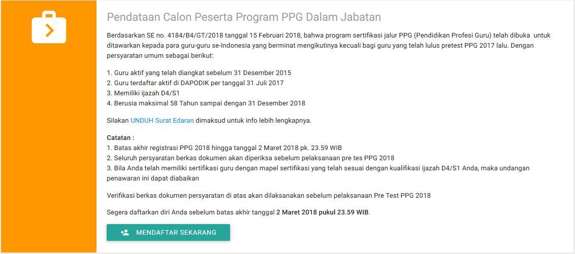 Syarat Pendataan Calon Peserta PPG Dalam Jabatan dde1c6bd0f