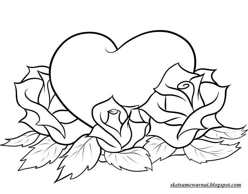 Ahmedatheism Gambar Bunga Mawar Mewarnai