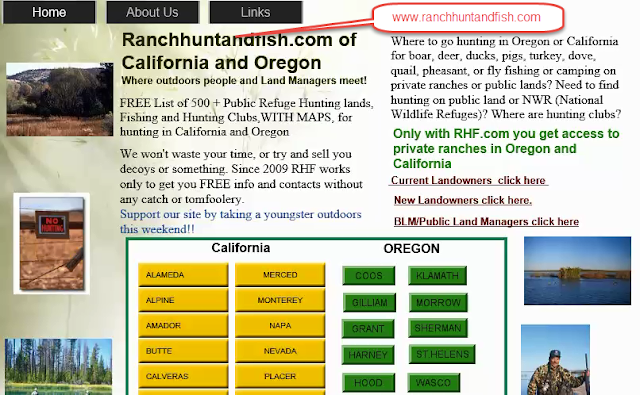 hunting and fishing clubs california oregon, hunting and fishing private ranches or lands oregon and california