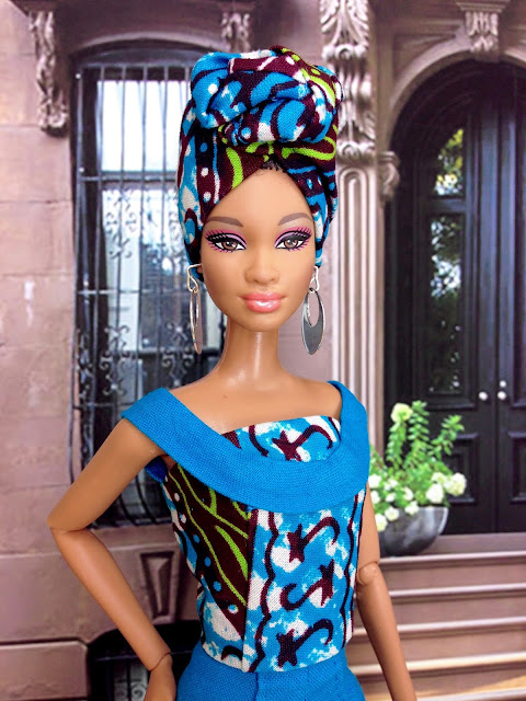 Miniature African Head-wrap for Barbie doll
