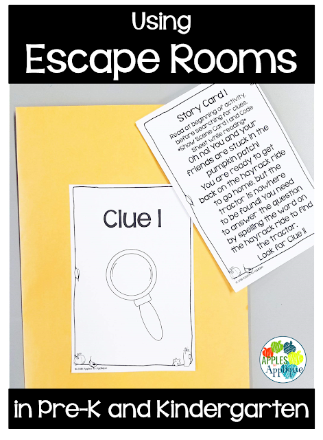 Escape Rooms for Pre-K and Kindergarten | Apples to Applique