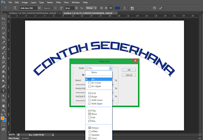 Cara Membuat Tulisan Melengkung di Photoshop 3