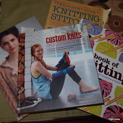 eight acres: ready to start knitting and crochet - having a tidy up of unfinished projects and all my knitting stuff!