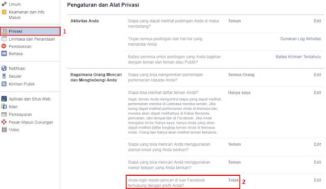 Menyembunyikan Akun Facebook