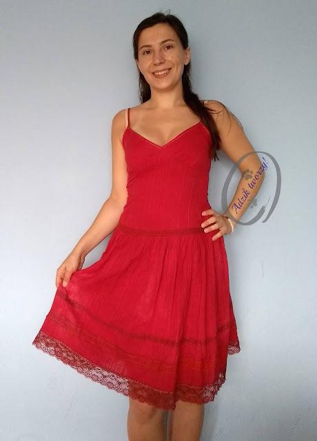 Adzik tworzy - farbowanie sukienki DIY przeróbka